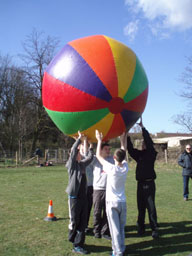 Earth Ball and Parachute Games